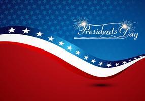 Präsidenten Tag mit amerikanischer Flagge vektor