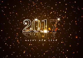 Gott nytt år 2017 med glitter