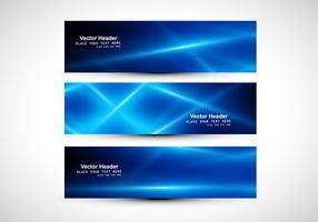 Abstrakt Blue Colored Header vektor