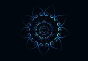 Abstraktes blaues konzentrisches Muster vektor