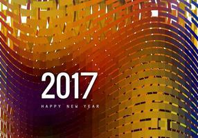 Hälsningskort av gott nytt år 2017