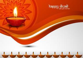 Glückliche Diwali Dekorative Karte vektor