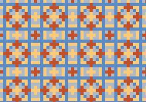 Quadratisches geometrisches Muster bakground vektor