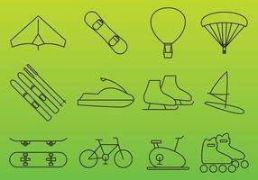 Erholung Vektor Icons