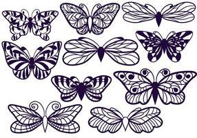 Free Cutout Schmetterlinge vektor