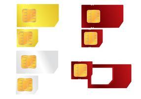 Handy SIM Karte Vektor