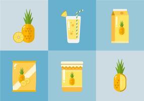 Vector Ananas Produkte