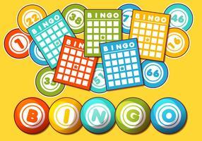 Bingo kort vektor uppsättning
