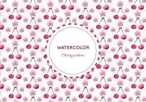 Gratis Vector vattenfärg Cherry Pattern