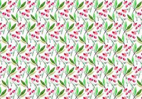 Gratis Vector vattenfärg Cherry Blossom Pattern