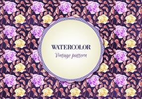 Gratis vattenfärg vektor blommönster