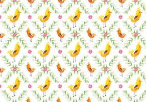 Free Vector Pattern Mit Vögeln