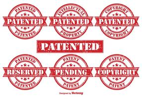 Patentvektor gummistämplar
