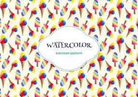 Gratis vattenfärg vektor mönster