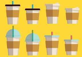 Kaffemuffe och kaffedrycksuppsättning vektor