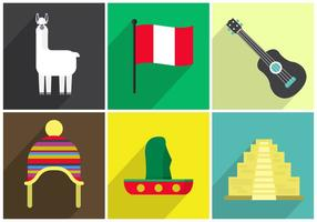 Vektor ikoner av Peru