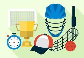 Unihockey Vektor-Illustration vektor