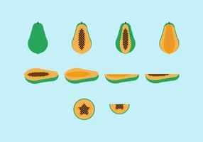 Kostenlose Papaya Vector Pack