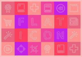 Gratis platta ikoner vektor samling