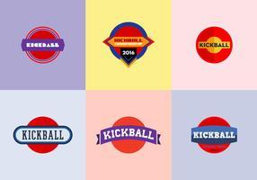 Kostenlos Kickball Vektor Pack