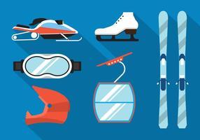 Wintersport-Vektoren