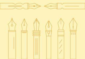 Free Pen Nib Vektor # 1