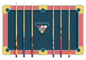 Pool Sticks Vektor