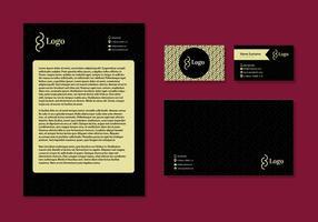 Letter Head Design Visitenkarten Corporate Identity Briefpapier vektor