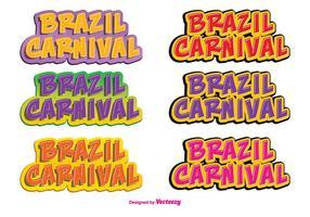 Brasilien Karneval Vector Label Set