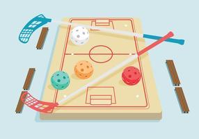 Unihockey-Vektor