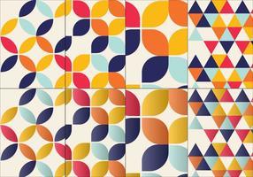 Bauhaus inspiriertes musterset vektor