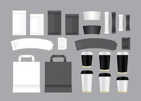 Vektor kaffebutik mallar