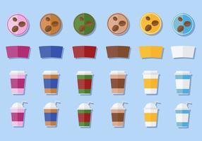 Freier Kaffee-Hülsen-Vektor vektor