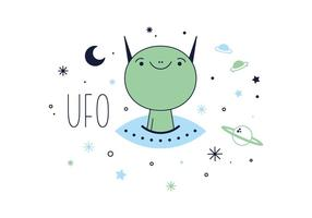 Freier UFO-Vektor vektor