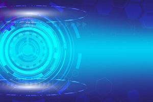 abstrakte digitale Technologie blau abstrakter Hud Hintergrund vektor