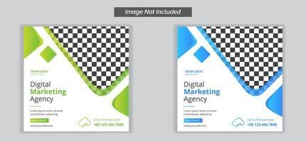 digital marknadsföringsbyrå sociala medier banner mall