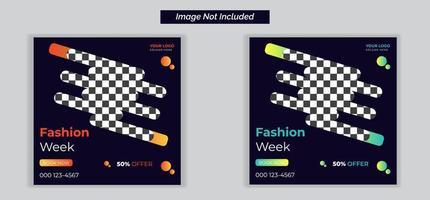 redigerbara modepost-mallar för sociala medier för