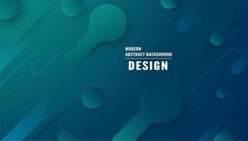 modernes abstraktes blaues Grün formt Hintergrund