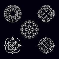 abstraktes Designlogo der Geometrie des heiligen Kreises vektor