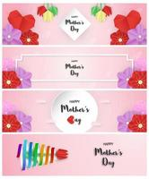 Satz von Entwürfen für glücklichen Muttertag