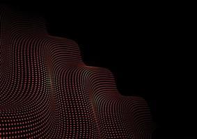 leuchtende Punkte Techno abstrakten Hintergrund vektor
