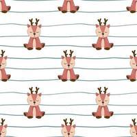 Hand gezeichnet von niedlichen Hirsch nahtloses Muster
