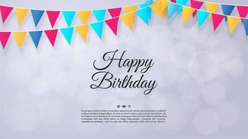 Fahnenbanner alles Gute zum Geburtstaghintergrund