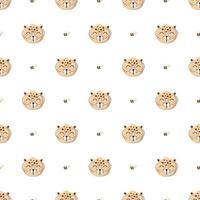 nahtloses Muster mit niedlichem Leoparden