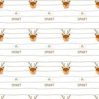 nahtloses Muster mit niedlichen Hirschen