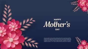 dunkelblauer Muttertagshintergrund vektor