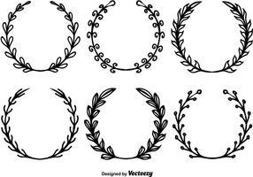 Handdragen kransvektorer vektor