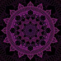 rosa und schwarzer Mandala-Designhintergrund vektor