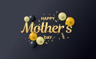 eleganter Muttertag Hintergrund vektor