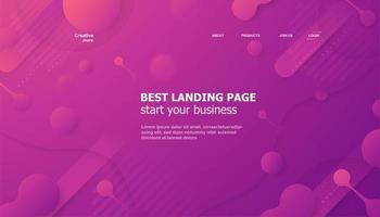lila rosa Farbverlauf Landingpage Vorlage vektor